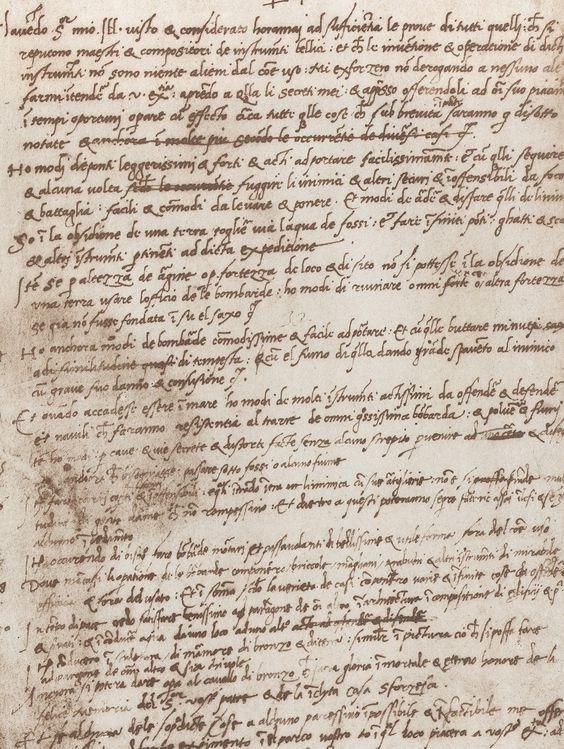 Leonardo Da Vinci's resume