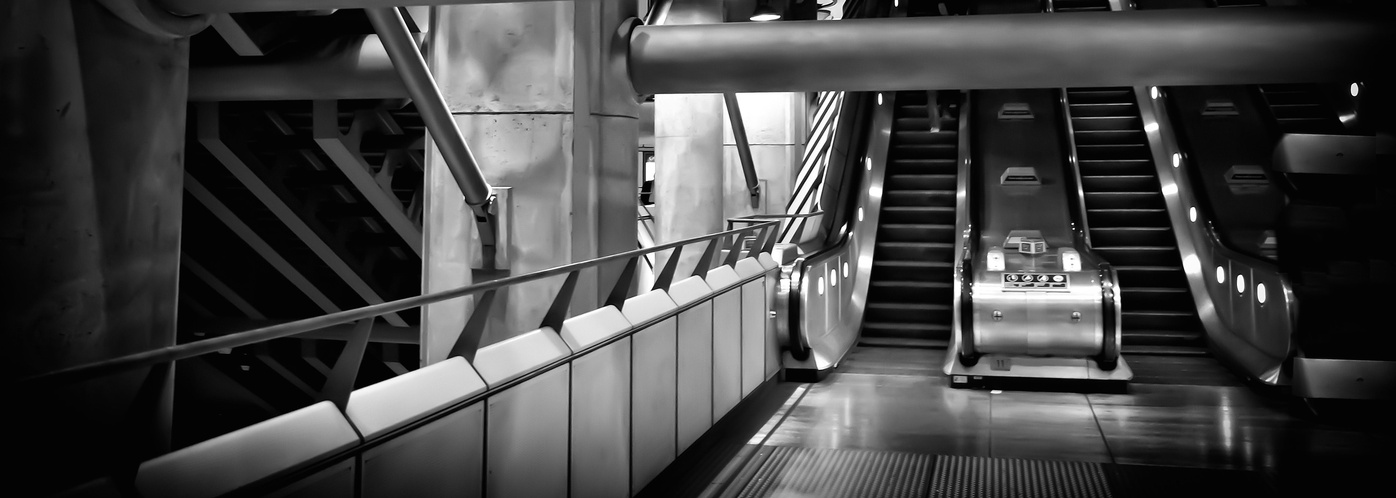 An escalator which can be a metaphor to one for success in your career