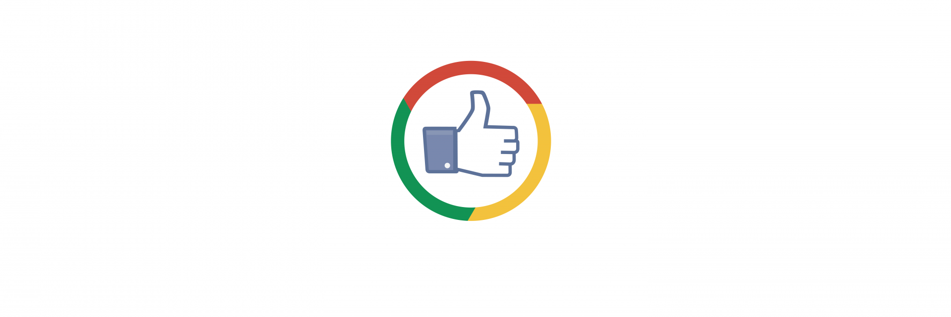 An amalgamation of the facebook like button and the google colors to represent the technology industry landscape