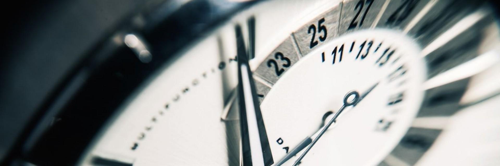 A watch face of an expensive Swiss mechanical watch