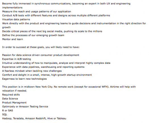 growth engineer job description