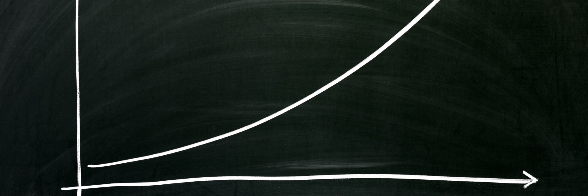 An exponential growth chart