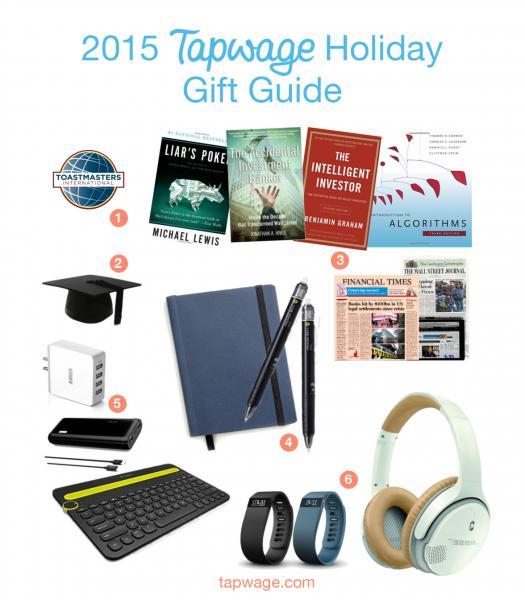 The Tapwage 2015 Annual Career Focused Holiday Gift Guide